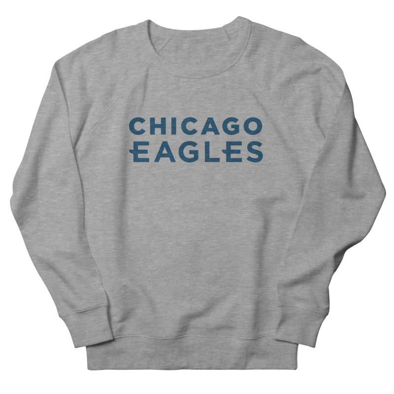 Navy Wordmark Men's French Terry Sweatshirt by Chicago Eagles