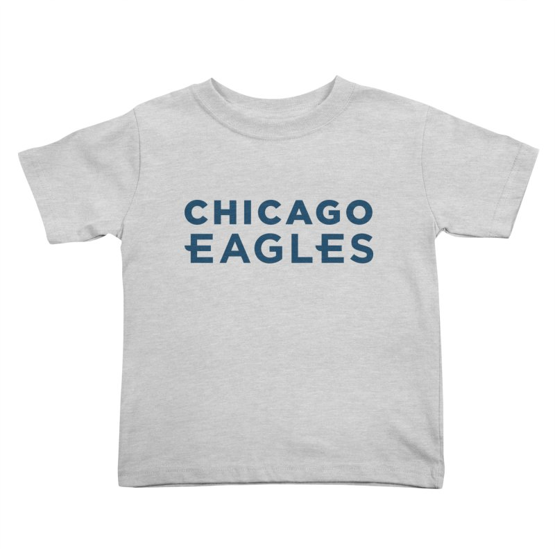 Navy Wordmark Kids Toddler T-Shirt by Chicago Eagles