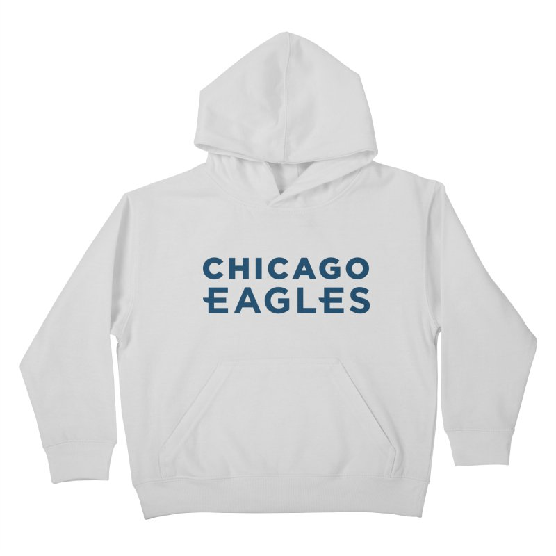 Navy Wordmark Kids Pullover Hoody by Chicago Eagles