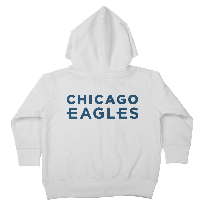 Navy Wordmark Kids Toddler Zip-Up Hoody by Chicago Eagles