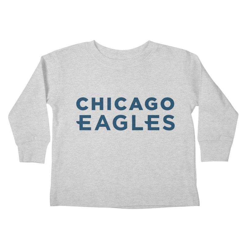 Navy Wordmark Kids Toddler Longsleeve T-Shirt by Chicago Eagles