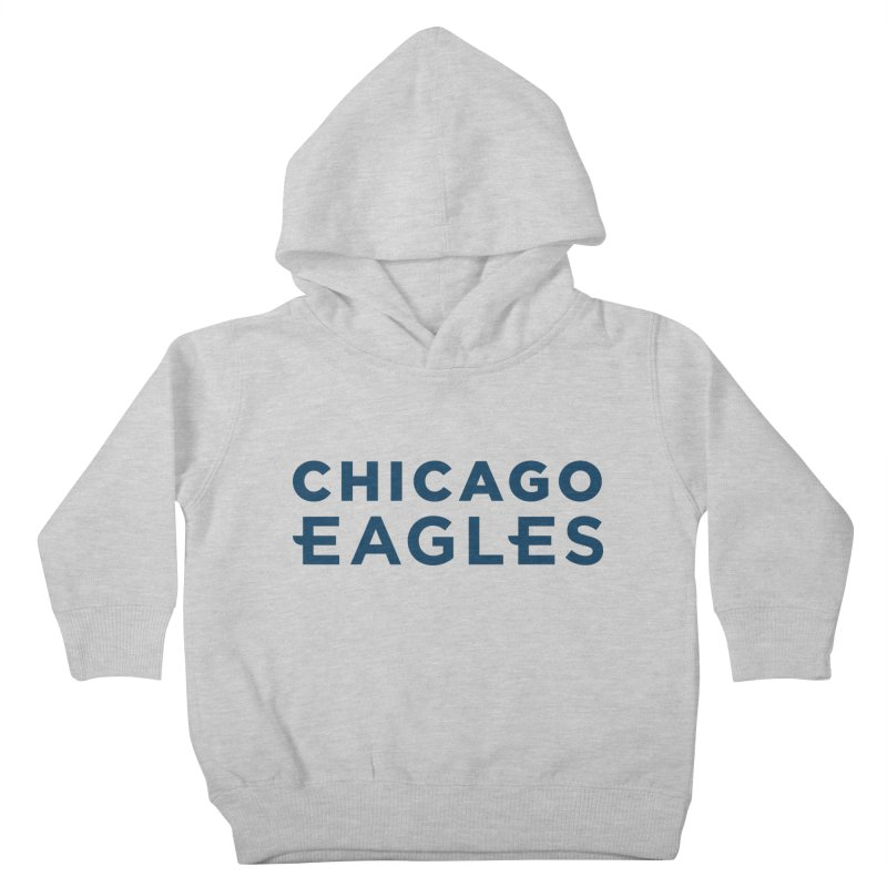 Navy Wordmark Kids Toddler Pullover Hoody by Chicago Eagles