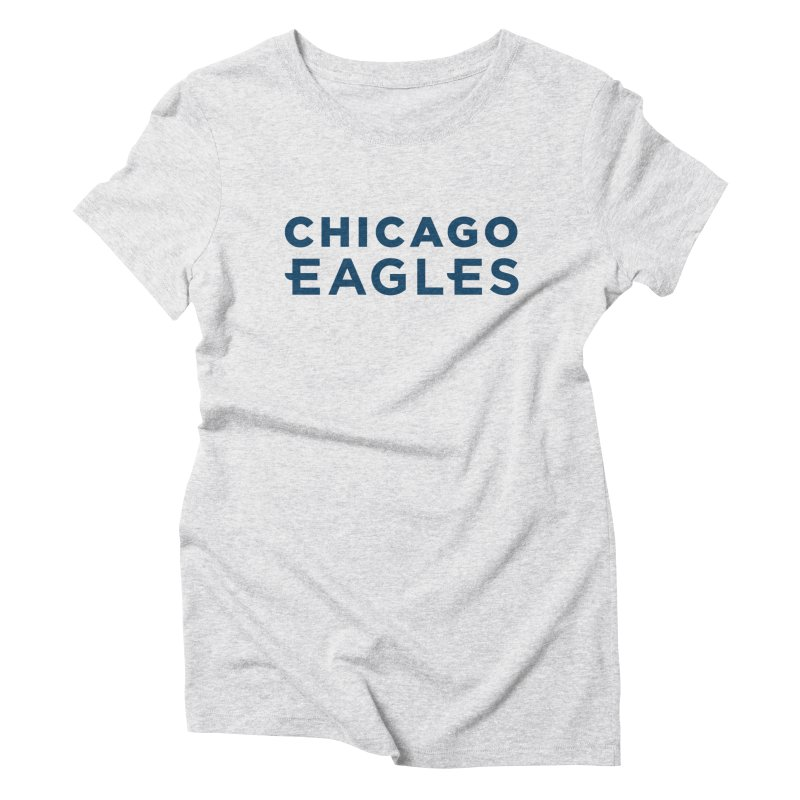 Navy Wordmark Women's Triblend T-Shirt by Chicago Eagles
