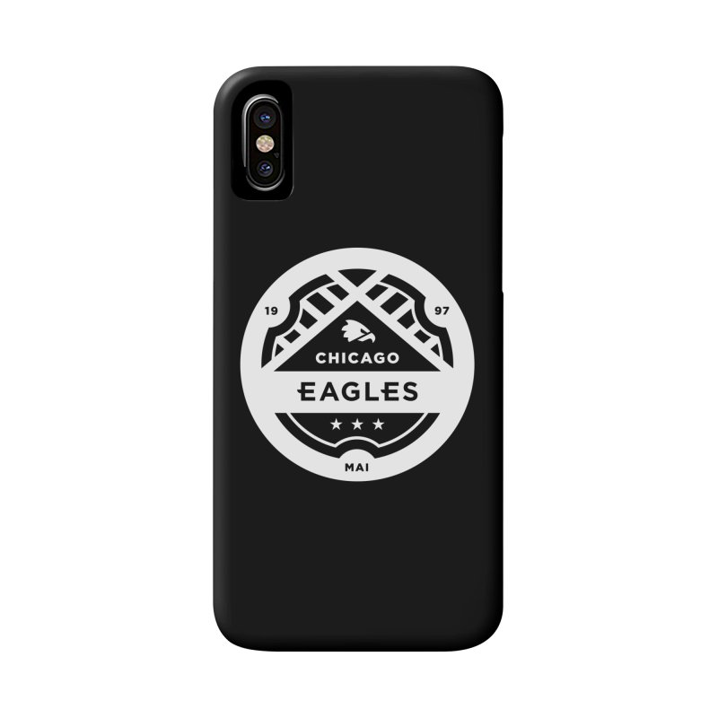 White Chicago Eagles Crest Accessories Phone Case by Chicago Eagles