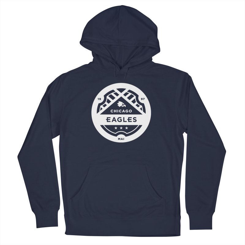 White Chicago Eagles Crest Women's French Terry Pullover Hoody by Chicago Eagles