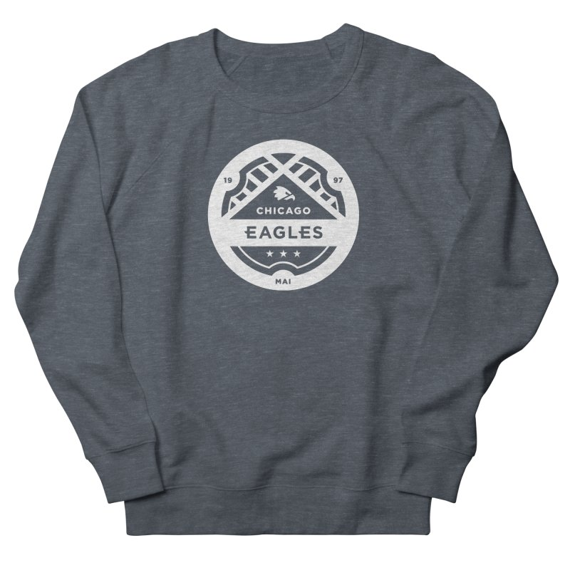 White Chicago Eagles Crest Men's French Terry Sweatshirt by Chicago Eagles