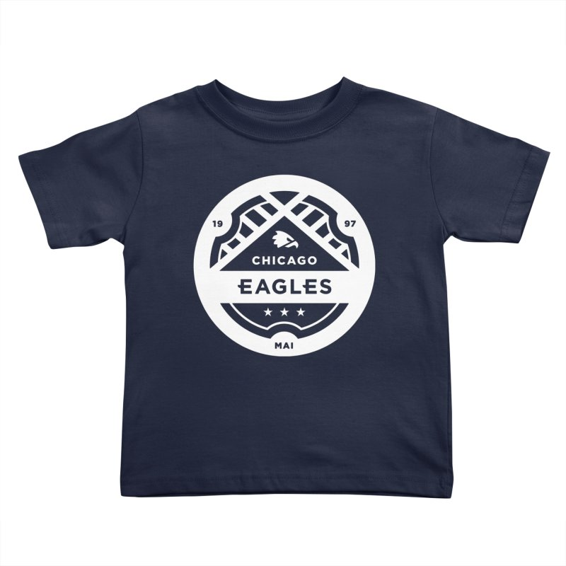 White Chicago Eagles Crest Kids Toddler T-Shirt by Chicago Eagles