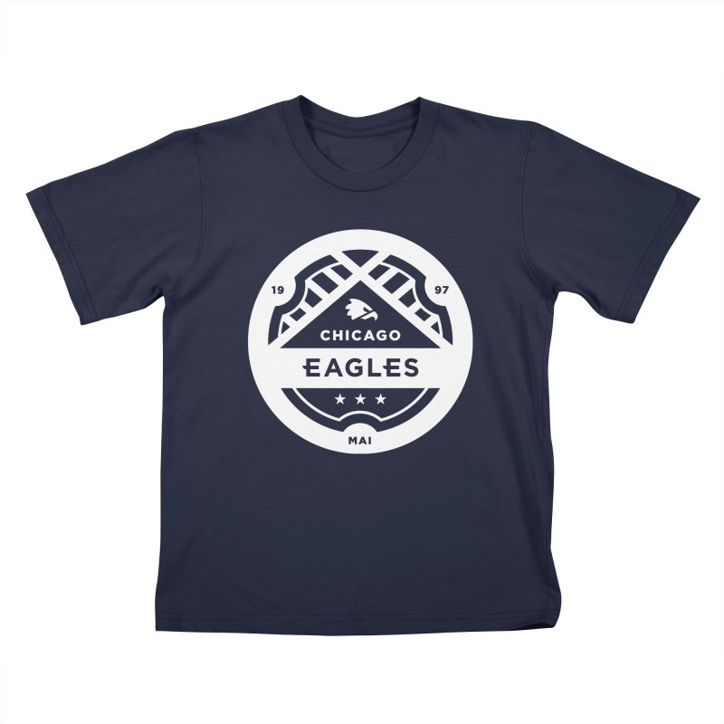 White Chicago Eagles Crest Kids T-Shirt by Chicago Eagles