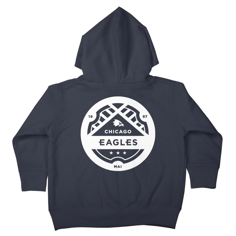 White Chicago Eagles Crest Kids Toddler Zip-Up Hoody by Chicago Eagles