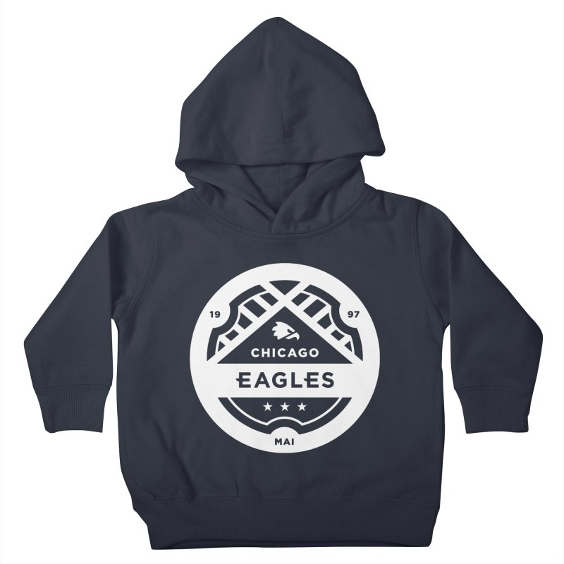 White Chicago Eagles Crest Kids Toddler Pullover Hoody by Chicago Eagles