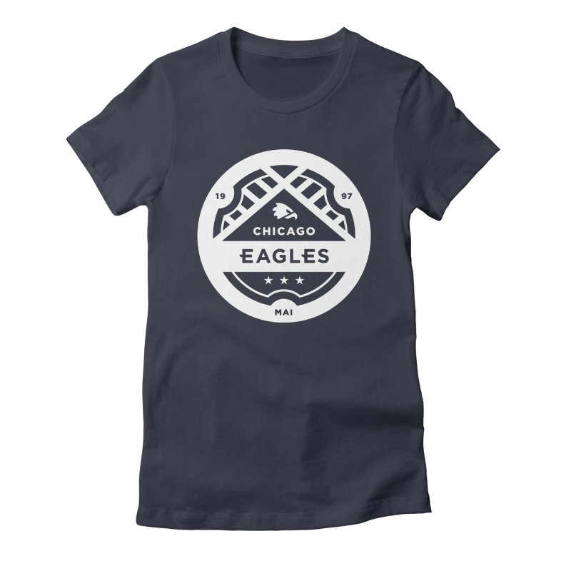 White Chicago Eagles Crest Women's Fitted T-Shirt by Chicago Eagles