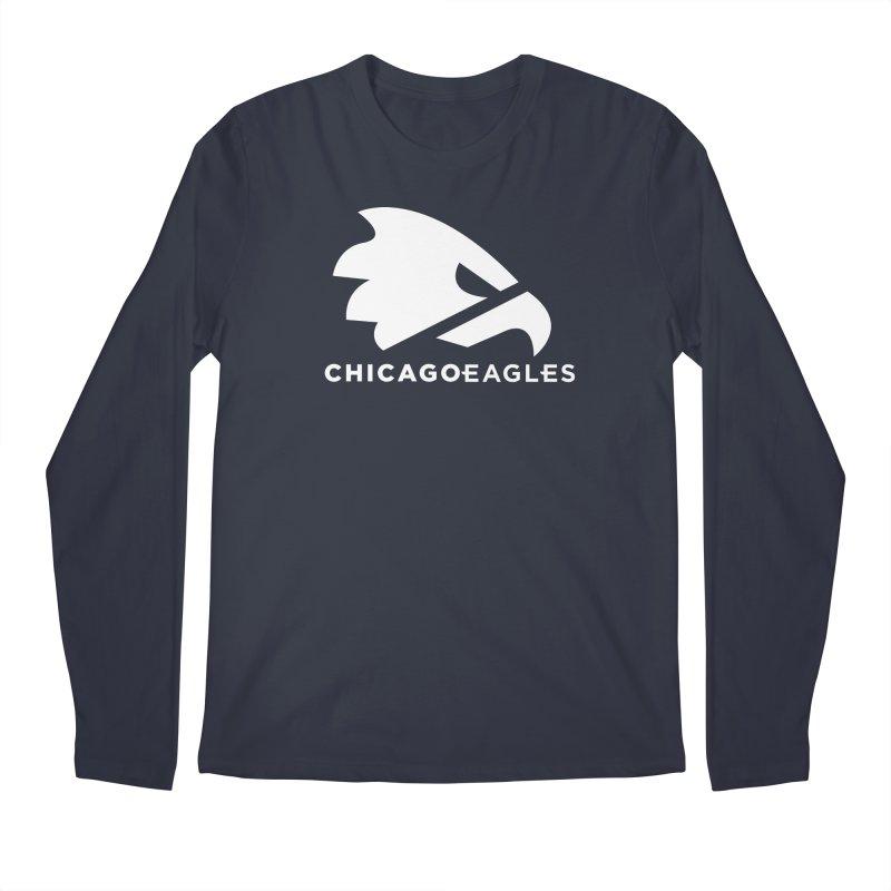White Eagles Mark Men's Regular Longsleeve T-Shirt by Chicago Eagles
