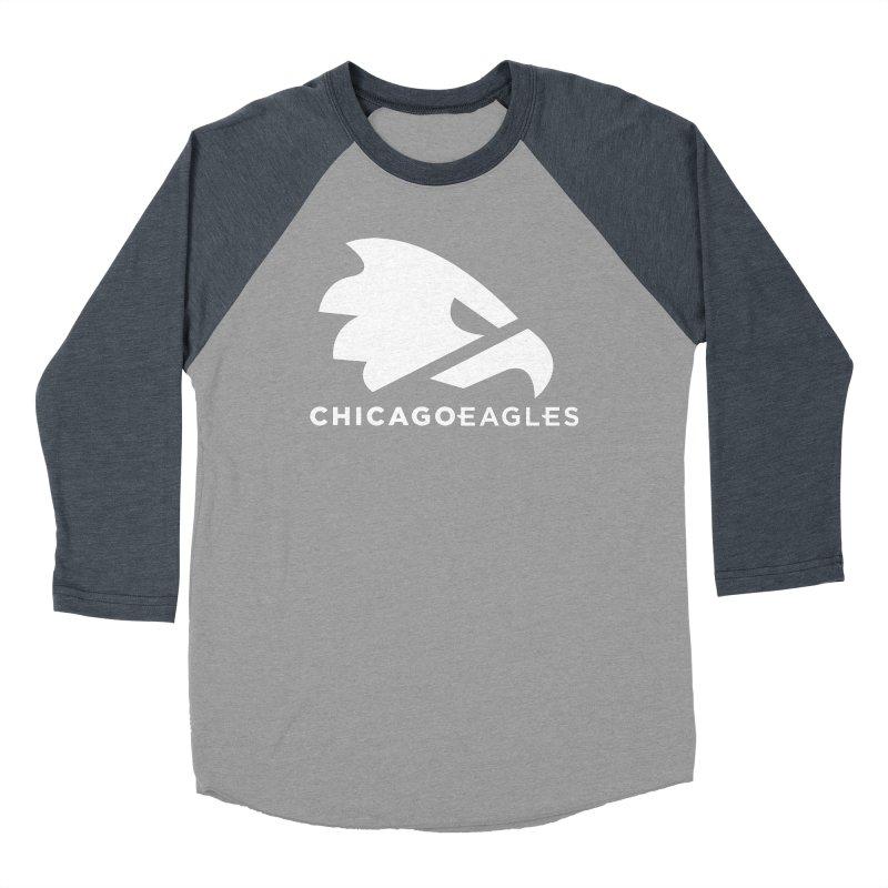 White Eagles Mark Men's Baseball Triblend Longsleeve T-Shirt by Chicago Eagles