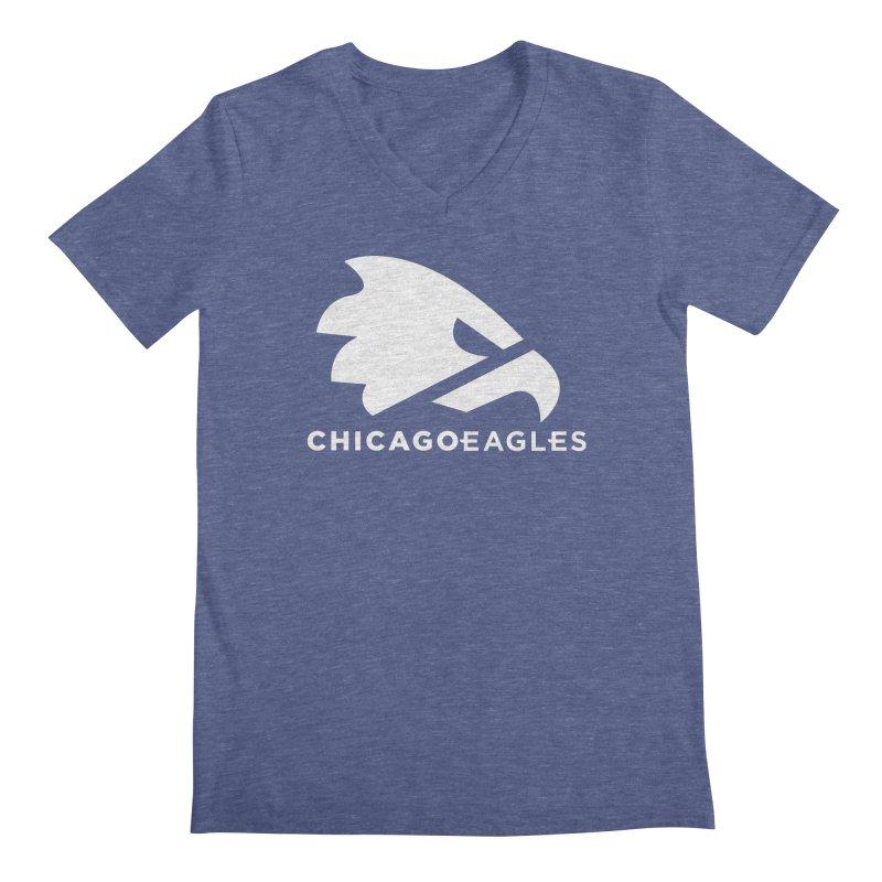 White Eagles Mark Men's Regular V-Neck by Chicago Eagles