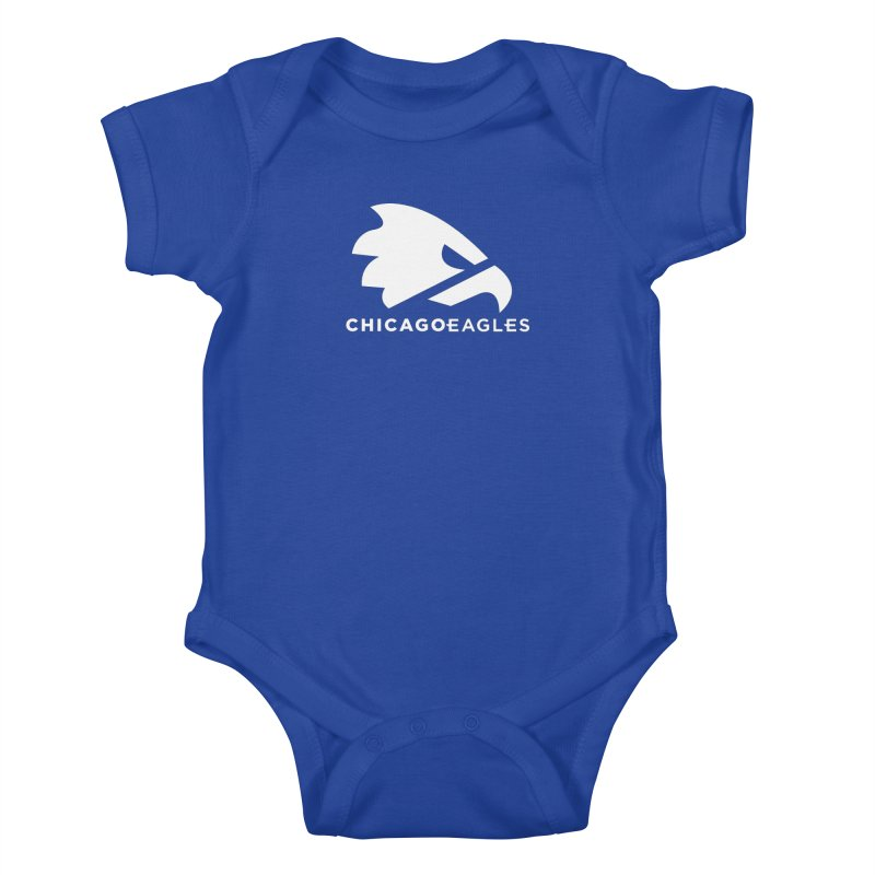 White Eagles Mark Kids Baby Bodysuit by Chicago Eagles