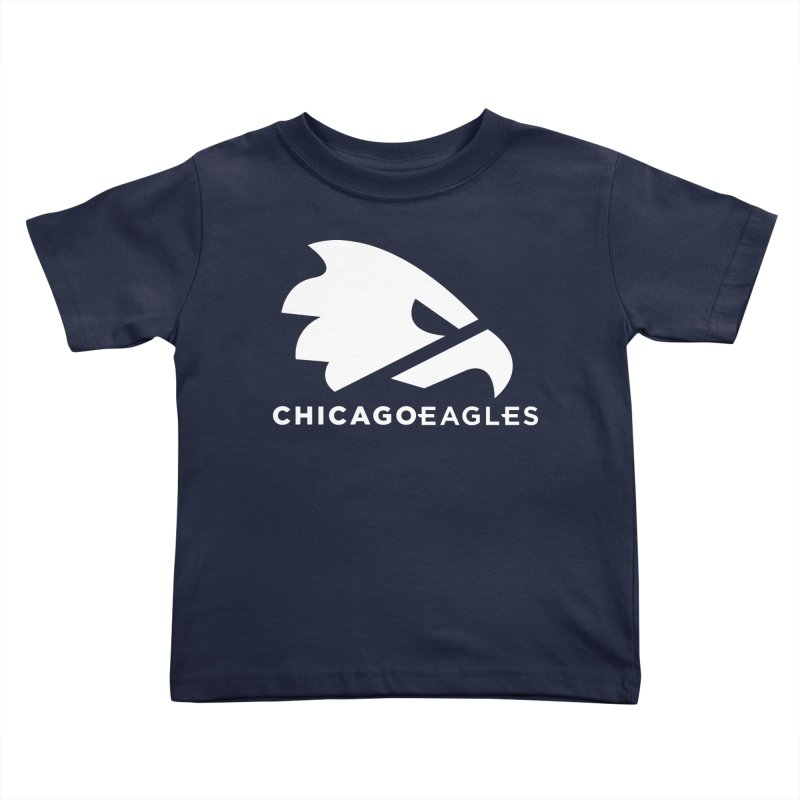 White Eagles Mark Kids Toddler T-Shirt by Chicago Eagles