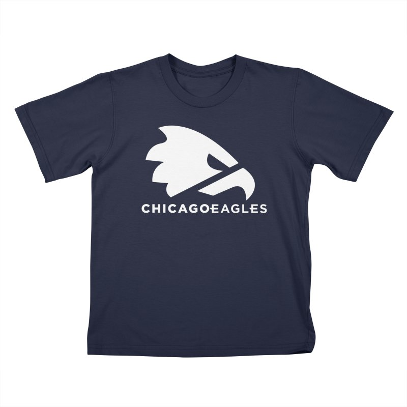White Eagles Mark Kids T-Shirt by Chicago Eagles