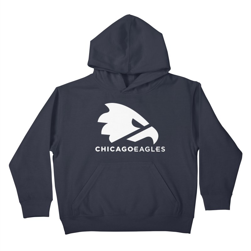 White Eagles Mark Kids Pullover Hoody by Chicago Eagles