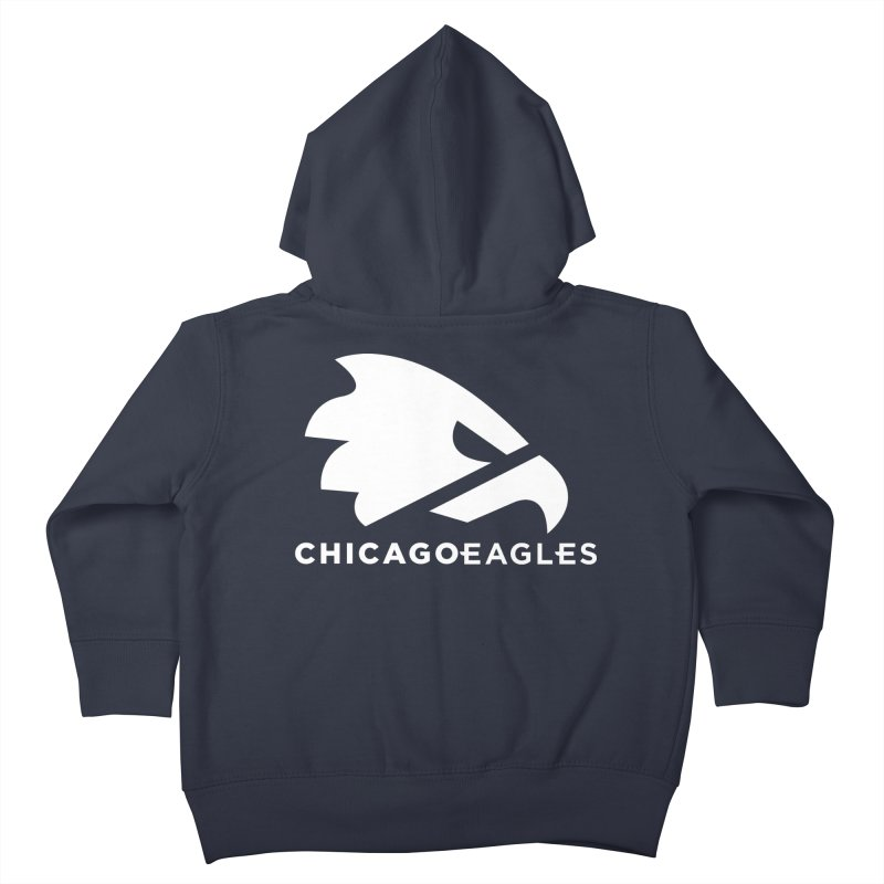 White Eagles Mark Kids Toddler Zip-Up Hoody by Chicago Eagles