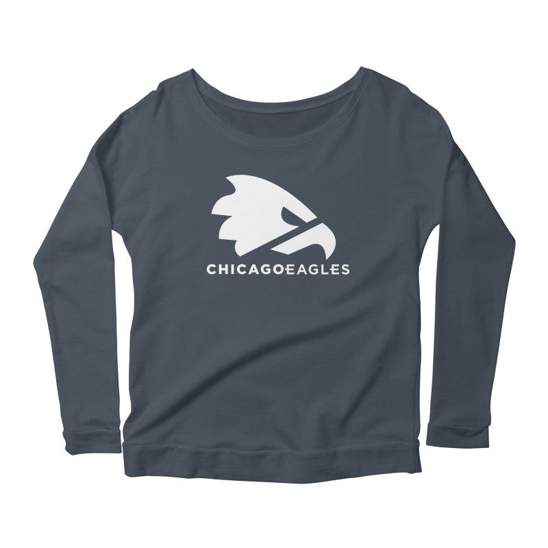 White Eagles Mark Women's Scoop Neck Longsleeve T-Shirt by Chicago Eagles