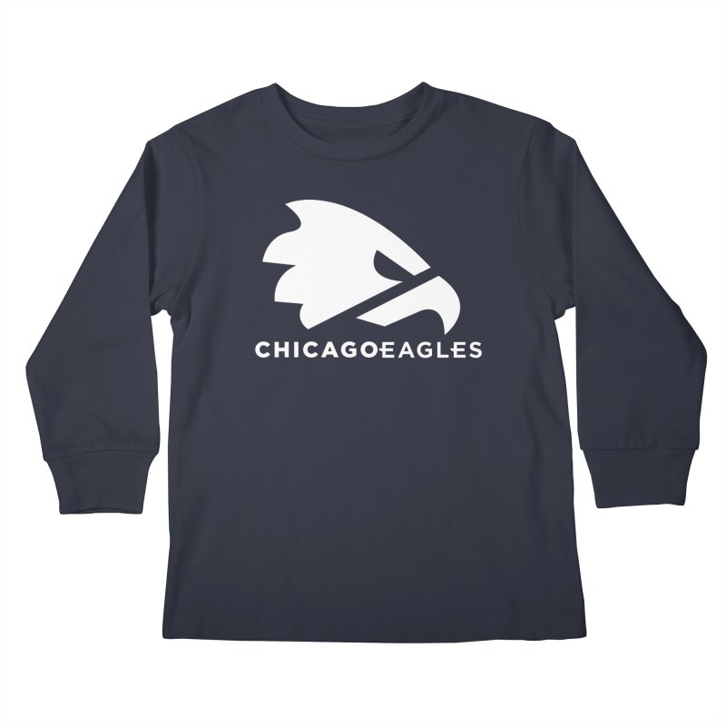 White Eagles Mark Kids Longsleeve T-Shirt by Chicago Eagles