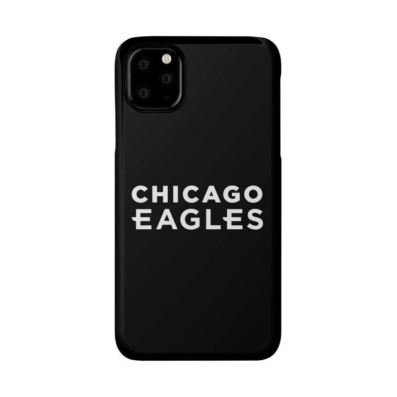 White Wordmark Accessories Phone Case by Chicago Eagles