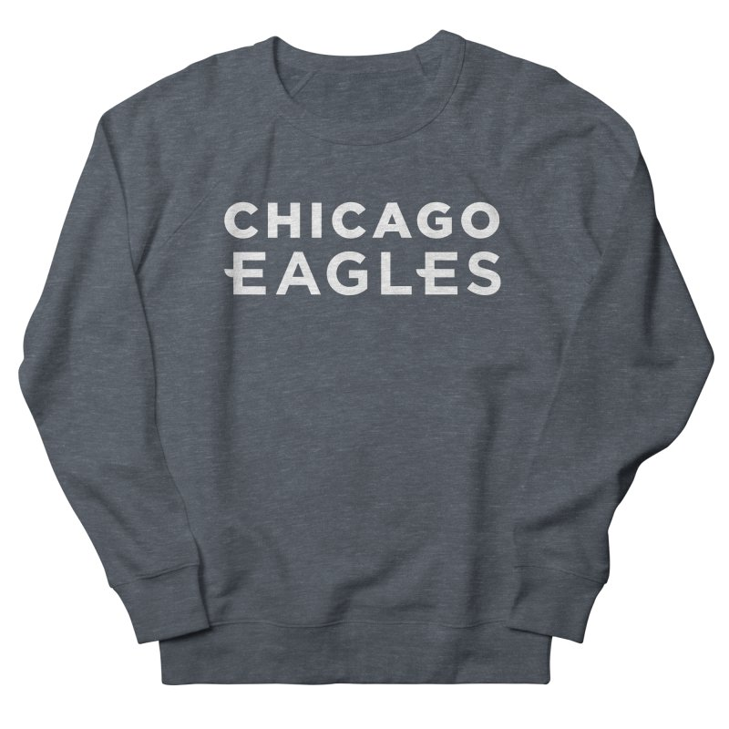 White Wordmark Men's French Terry Sweatshirt by Chicago Eagles