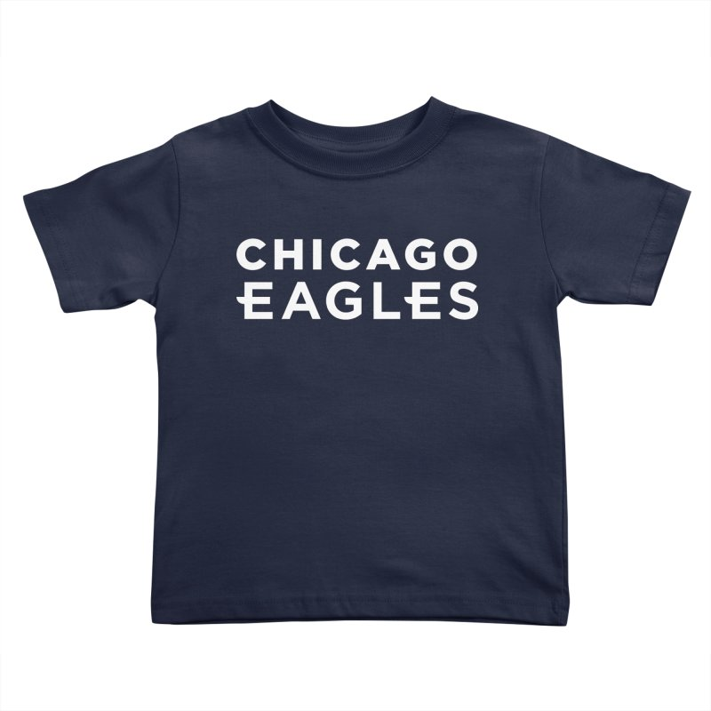 White Wordmark Kids Toddler T-Shirt by Chicago Eagles