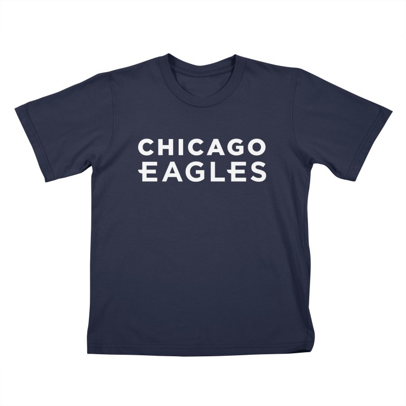 White Wordmark Kids T-Shirt by Chicago Eagles