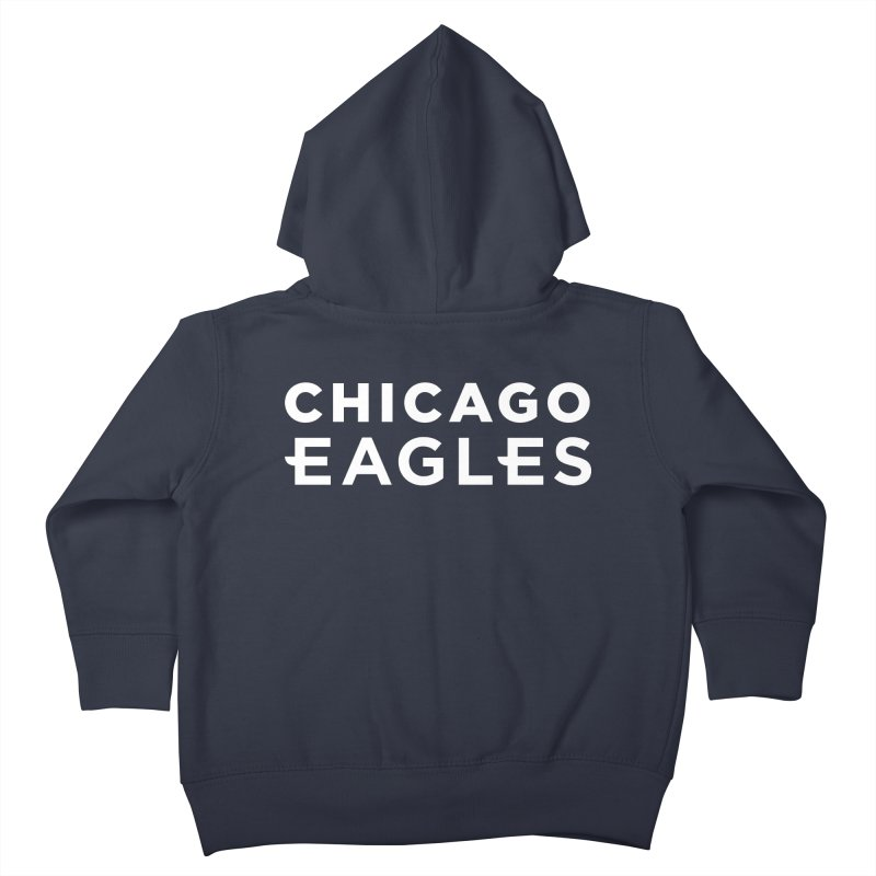 White Wordmark Kids Toddler Zip-Up Hoody by Chicago Eagles