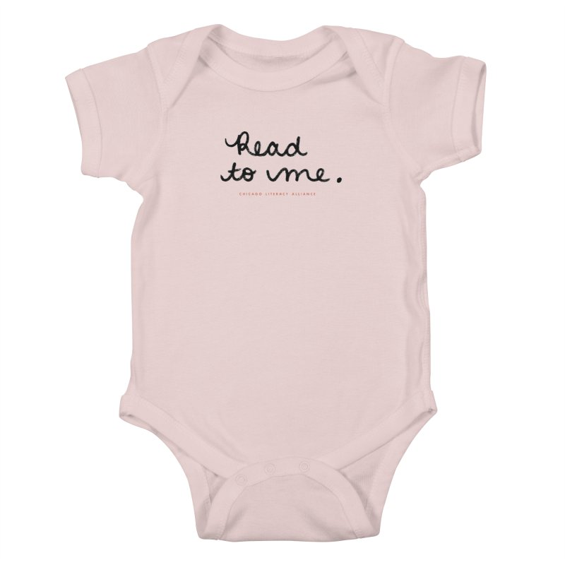 Read to me - black logo Kids Baby Bodysuit by Chicago Literacy Alliance