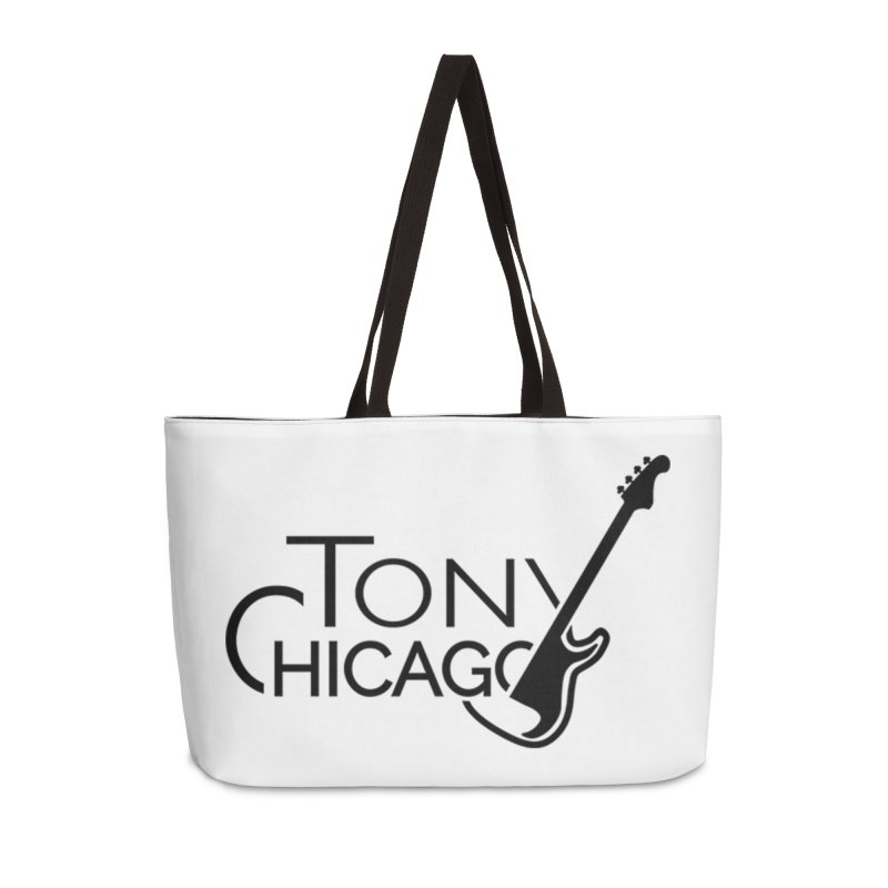 Tony Chicago Russell Black Accessories Weekender Bag Bag by Chicago Music's Apparel and Retail Shop