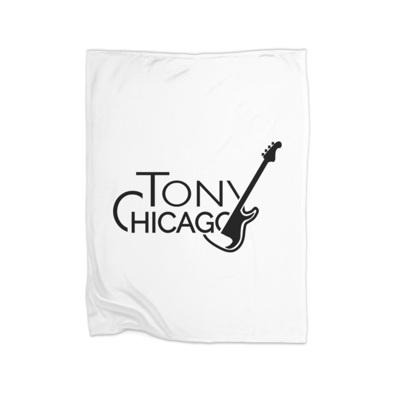 Tony Chicago Russell Black Home Fleece Blanket Blanket by Chicago Music's Apparel and Retail Shop