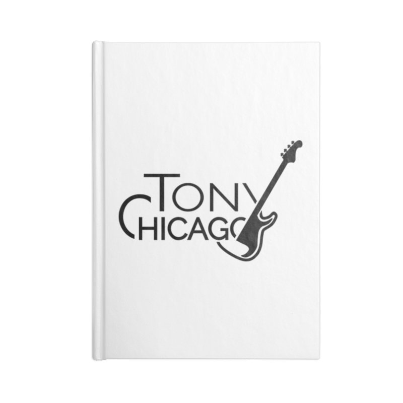 Tony Chicago Russell Black Accessories Lined Journal Notebook by Chicago Music's Apparel and Retail Shop