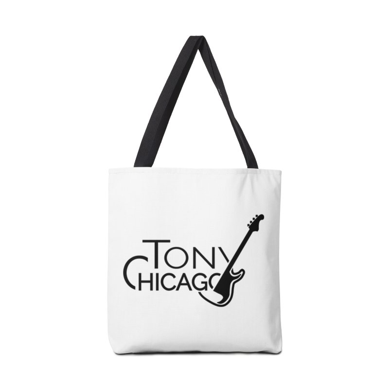 Tony Chicago Russell Black Accessories Tote Bag Bag by Chicago Music's Apparel and Retail Shop