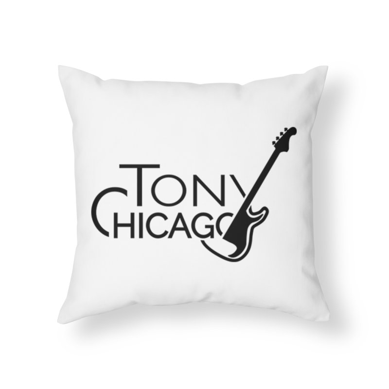 Tony Chicago Russell Black Home Throw Pillow by Chicago Music's Apparel and Retail Shop