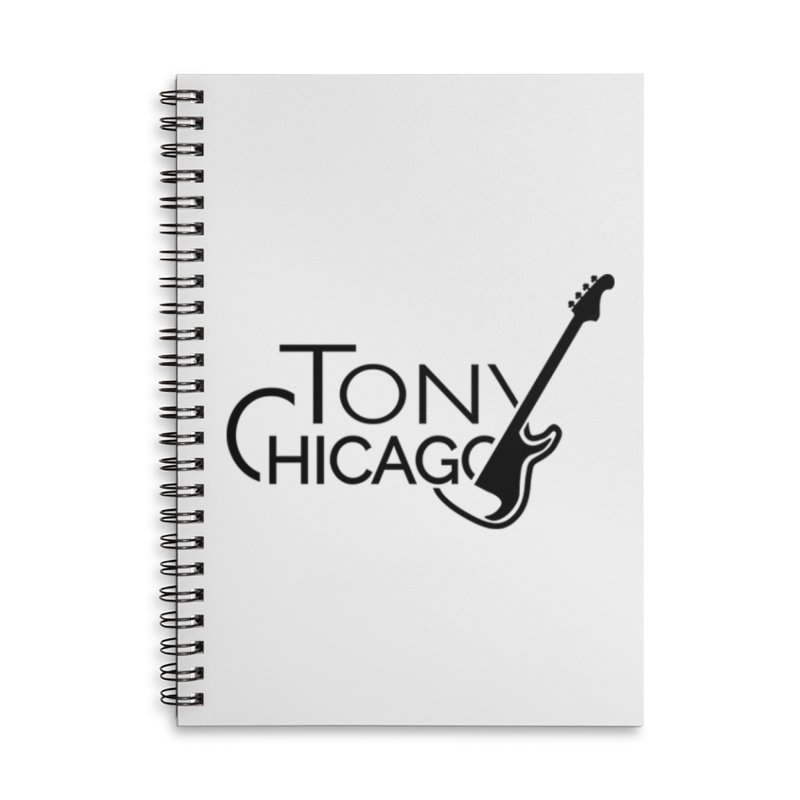 Tony Chicago Russell Black Accessories Lined Spiral Notebook by Chicago Music's Apparel and Retail Shop