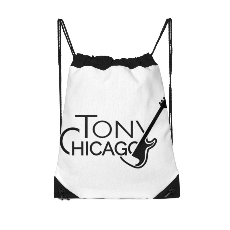 Tony Chicago Russell Black Accessories Drawstring Bag Bag by Chicago Music's Apparel and Retail Shop