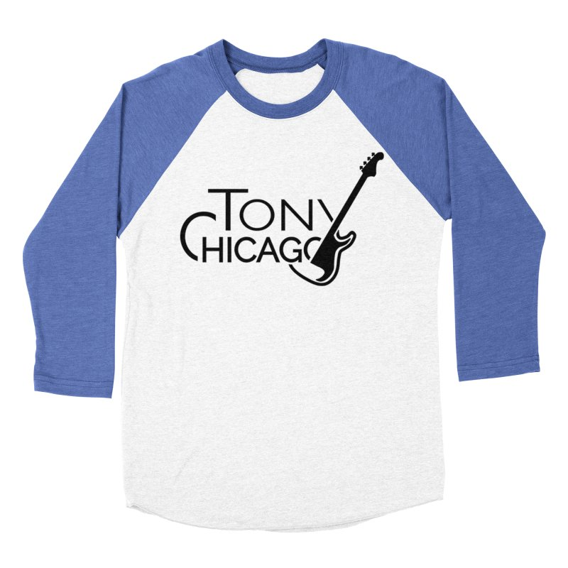 Tony Chicago Russell Black Men's Baseball Triblend Longsleeve T-Shirt by Chicago Music's Apparel and Retail Shop
