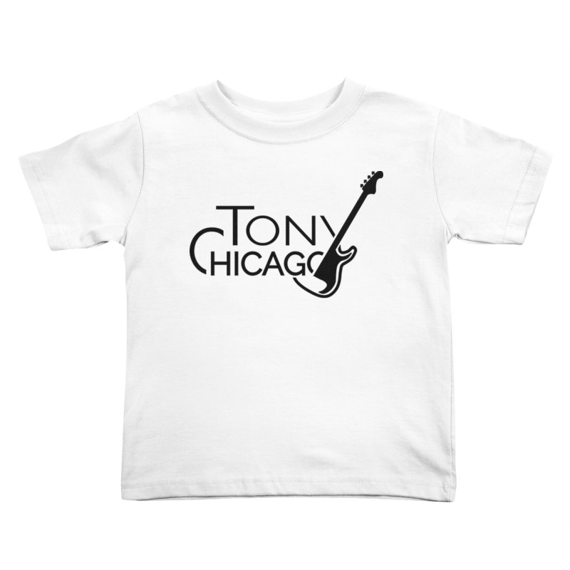 Tony Chicago Russell Black Kids Toddler T-Shirt by Chicago Music's Apparel and Retail Shop