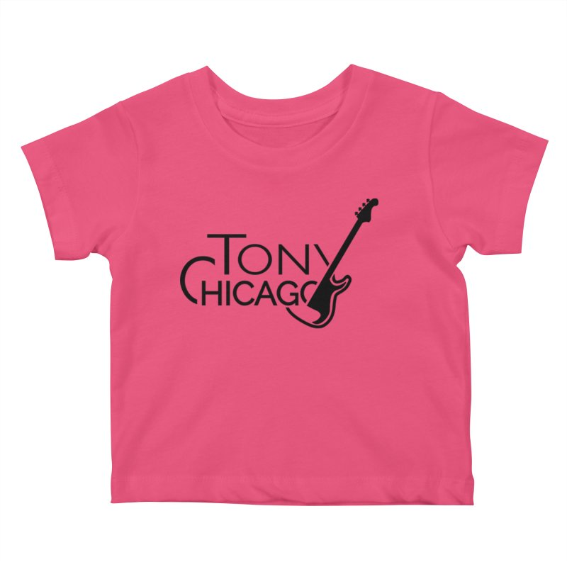 Tony Chicago Russell Black Kids Baby T-Shirt by Chicago Music's Apparel and Retail Shop