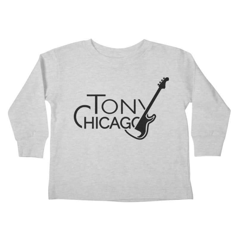 Tony Chicago Russell Black Kids Toddler Longsleeve T-Shirt by Chicago Music's Apparel and Retail Shop