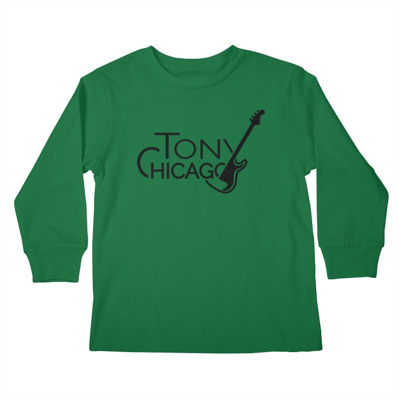 Tony Chicago Russell Black Kids Longsleeve T-Shirt by Chicago Music's Apparel and Retail Shop