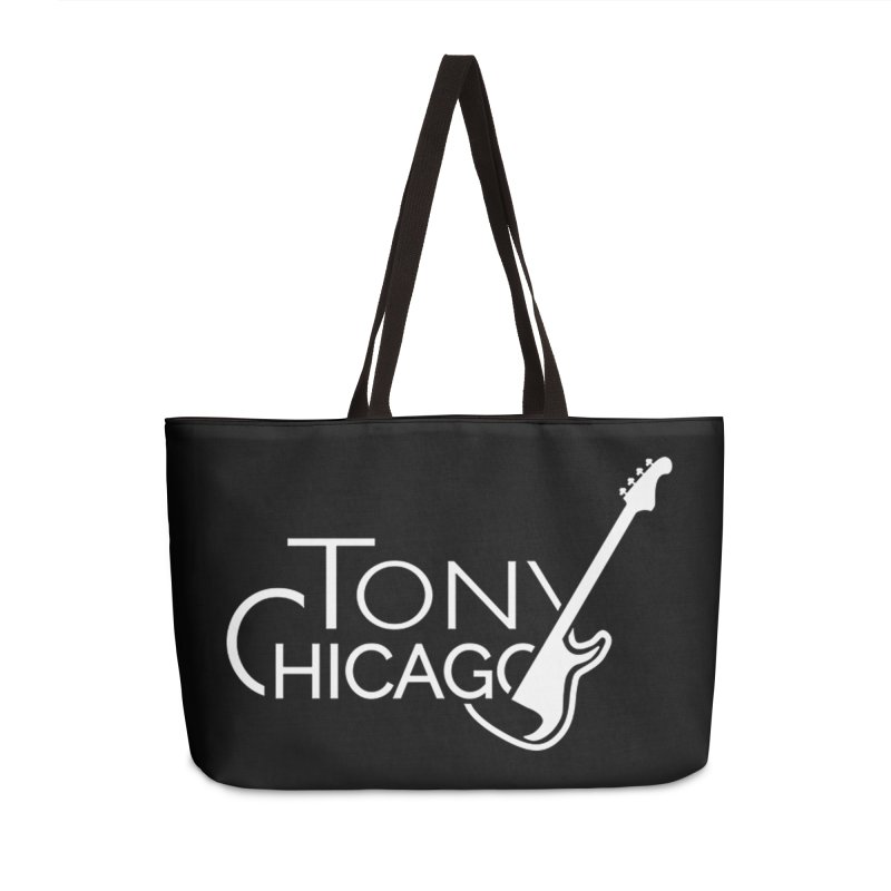 Tony Chicago Russell White Accessories Weekender Bag Bag by Chicago Music's Apparel and Retail Shop