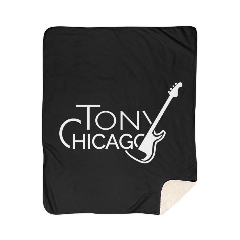 Tony Chicago Russell White Home Sherpa Blanket Blanket by Chicago Music's Apparel and Retail Shop