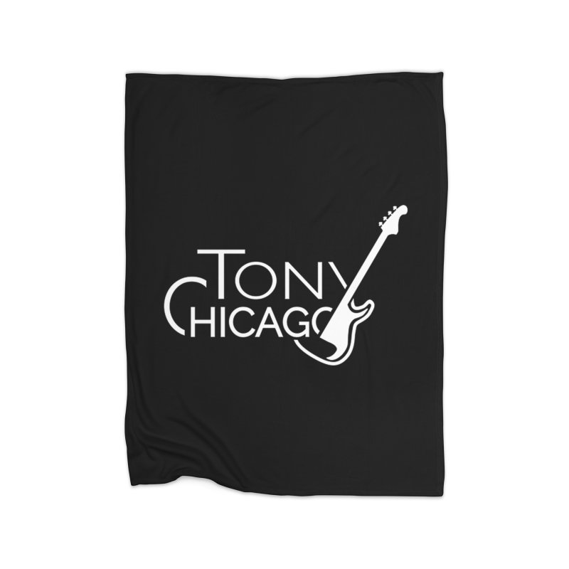Tony Chicago Russell White Home Fleece Blanket Blanket by Chicago Music's Apparel and Retail Shop