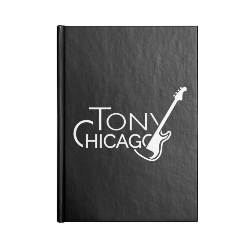 Tony Chicago Russell White Accessories Blank Journal Notebook by Chicago Music's Apparel and Retail Shop
