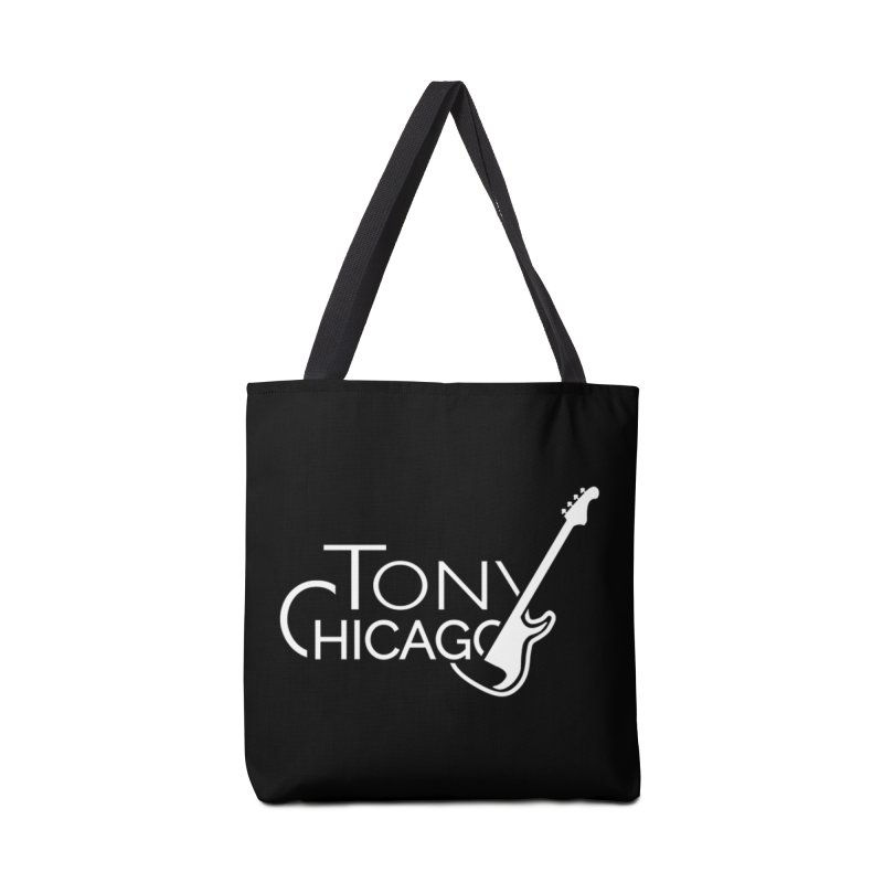 Tony Chicago Russell White Accessories Tote Bag Bag by Chicago Music's Apparel and Retail Shop