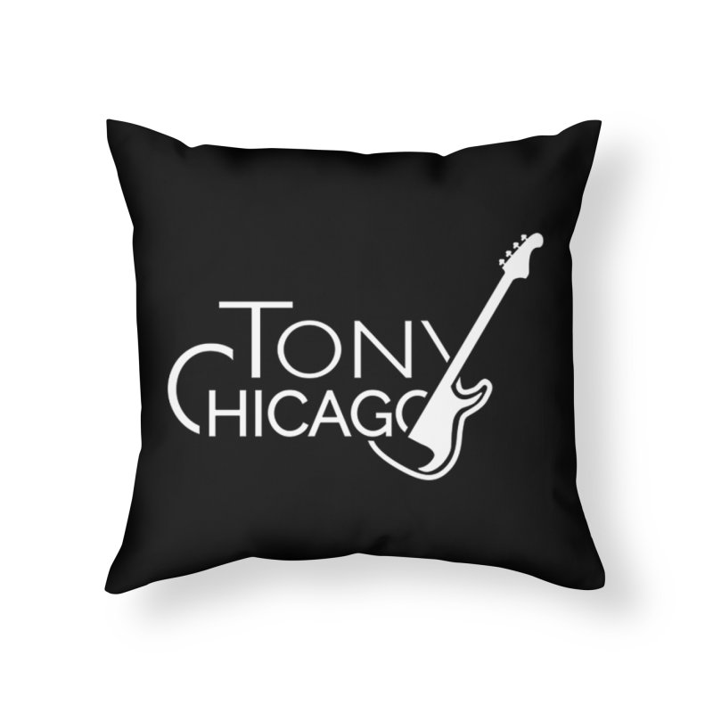 Tony Chicago Russell White Home Throw Pillow by Chicago Music's Apparel and Retail Shop