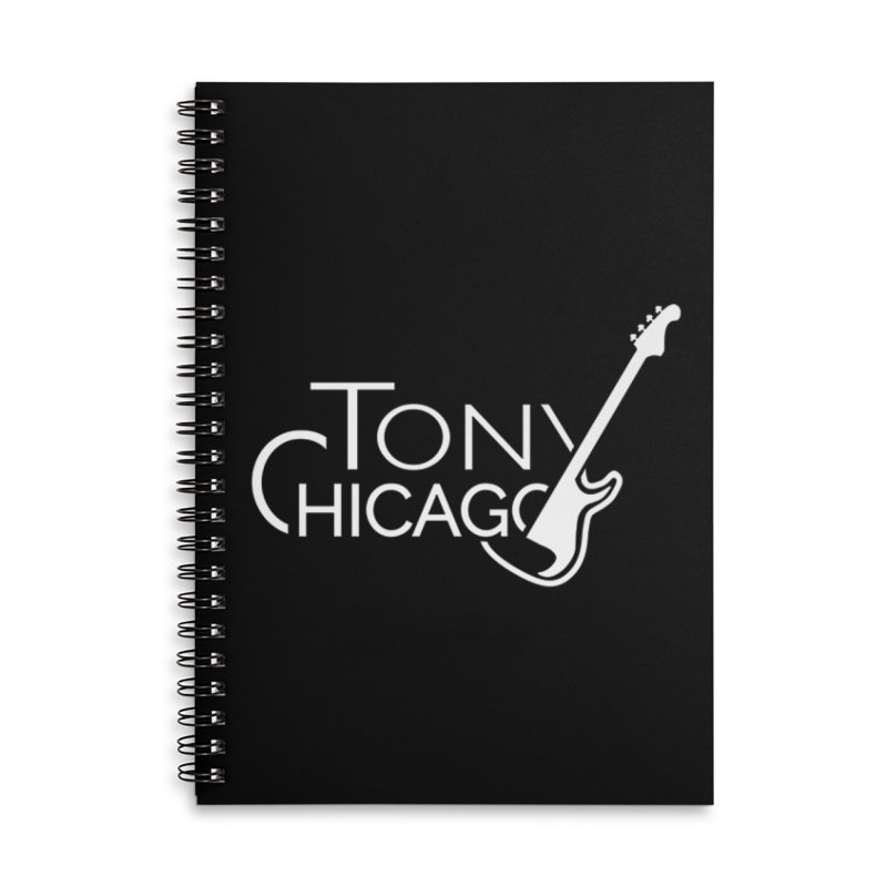 Tony Chicago Russell White Accessories Lined Spiral Notebook by Chicago Music's Apparel and Retail Shop